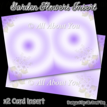 Lilac Garden Flowers Card Inserts