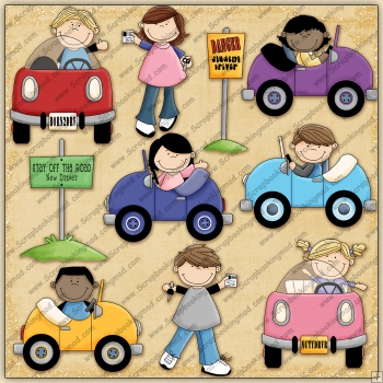 Stay Off Road ClipArt Graphic Collection