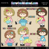 RESALE ART WORK Charlottes Cup Cakes ClipArt Collection