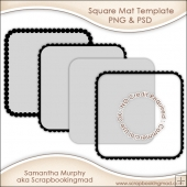 Square Mat Templates Commercial Use OK