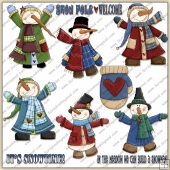 It's Snow Time 1 ClipArt Graphic Collection