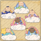 Rainbow Baby ClipArt Graphic Collection
