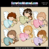 Tiny Angels Love Dollies ClipArt Collection