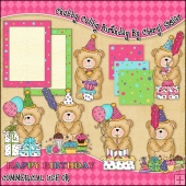 Chubby Cubby Birthday ClipArt Graphic Collection