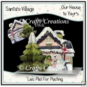 Santa's Village 3D tree card - Our House to You'rs