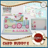 Santa's Train Over the Top Easel Card Kit