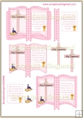 Pink Holy Communion Open Book PDF Decoupage Download