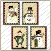 4 Snowfolk Quick Greeting Cards PDF Download