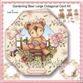 Gardening Bear Large Octagonal Card Kit
