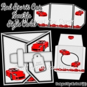 Red Sports Car Buckle Style Card