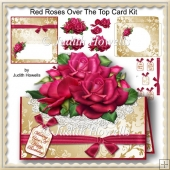 Red Roses Over The Top Card Kit