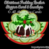 Christmas Pudding Rocker Stepper Card & Envelope