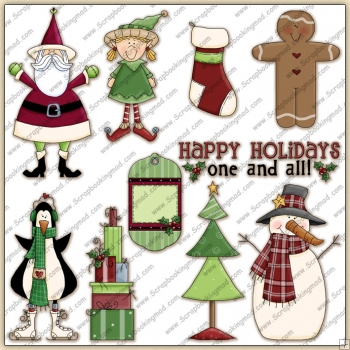 Christmas Holiday 1 ClipArt Graphic Collection