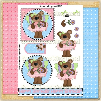 Butterfly Bears PDF Decoupage Download