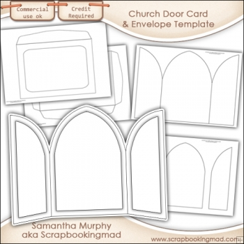 church door card envelope template commercial use. Black Bedroom Furniture Sets. Home Design Ideas