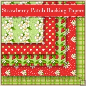 Strawberry Patch Backing Papers Download (C120)