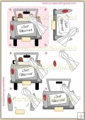 Wedding Just Married PDF Decoupage Download