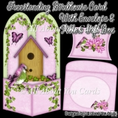 Freestanding Birdhouse Card & Envelope & Pillow Gift Box