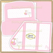 Pink Baby Teardrop Card PDF Decoupage Download