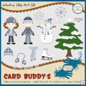 Wintry Clip Art Set – CU/PU