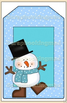Cool Dude Christmas Gift Tag - REF_T637