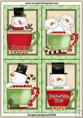 4 Snowman Mug's Quick Greeting Cards PDF Download