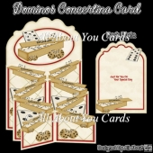 Dominos Concertina Card