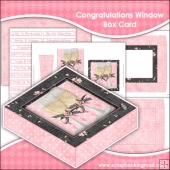 Congratulations Window Box Card