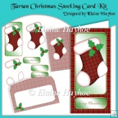 Tartan Christmas Stocking Card Kit