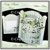 Pretty Planter Card - White Lilies