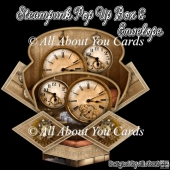 Steampunk Pop Up Box Card & Envelope