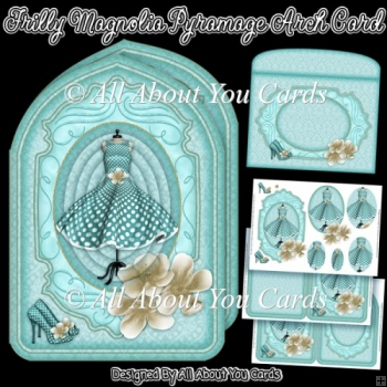 Frilly Magnolia Pyramage Arch Card