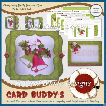 Christmas Bells Shadow Box Fold Card Kit