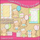 Princess Birthday Babies ClipArt Graphic Collection
