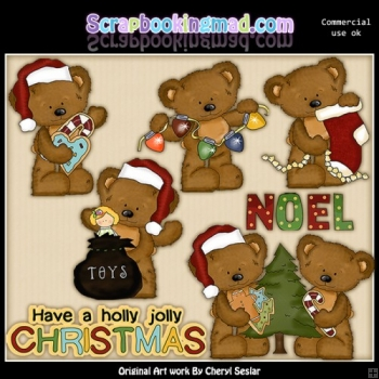 Twila and Tibbles Christmas ClipArt Collection