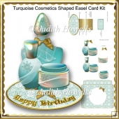 Turquoise Cosmetics Shaped Easel Card Kit