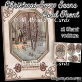 Christmas Snow Scene Card Front
