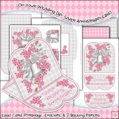 On Your Wedding Day, Silver Anniversary JPEG Easel Card Download