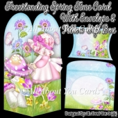 Freestanding Spring Time Card & Envelope & Pillow Gift Box