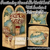Freestanding Around The World Card & Envelope & Pillow Gift Box