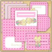 Pink Easter PDF Penny Slider Card Download