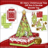 3D Merry Christmouse Tree Gift Box