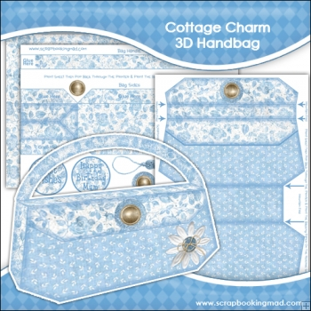 Cottage Charm 3D Handbag