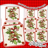 Comfort and Joy Single Layer Card Toppers