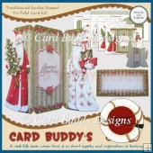 Traditional Santas Shaped Tri Fold Card Kit