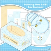 Baby Boy Shoe & Gift Box Keepsake