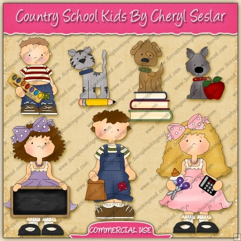 Country School Kids Graphic Collection - REF - CS