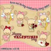Rosie And Rodney Valentines ClipArt Graphic Collection