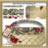 Red Roses 3D Handbag Kit