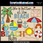 Beach Bum ClipArt Collection